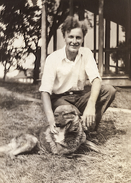 John Jr. & his dog Prince in West Nyack - 1930