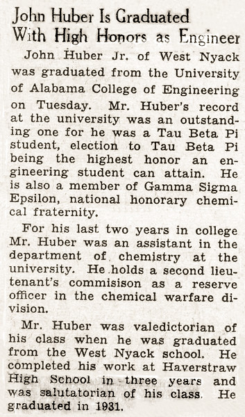 John Jr's UoA graduation - Newspaper article - 1935