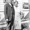 Huber grandparents by the Deer Head Inn in early 1930's
