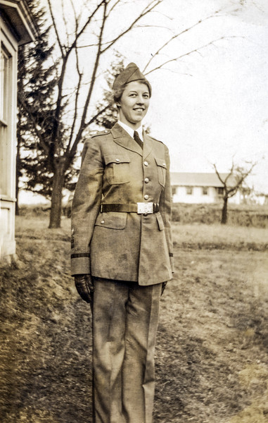 Muriel wearing her brother's ROTC uniform - Summer 1932