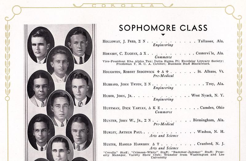 John Jr.'s Class Photo 1933 - University of Alabama
