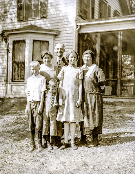 John Jr., Muriel & Edmunde with neighbors