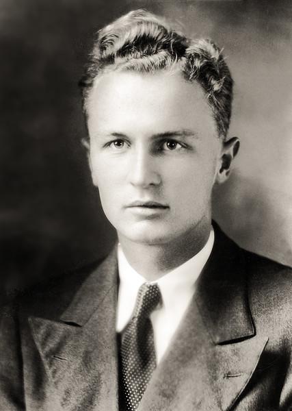 John Jr.'s photo in Alabama yearbook - 1933