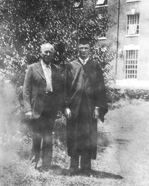 John Sr. & Jr. - Graduation from UoA - June 1935