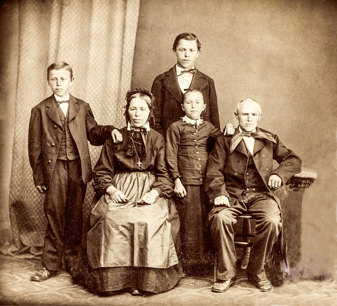 The Hubers in Germany - Jacob & Apolonia (great grandparents) - c.  1880