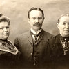 John Huber Sr, mother Apolonia & 1st wife Maragrette - c. 1900