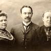 John Huber Sr, mother Apolonia & 1st wife Maragrette - c. 1900