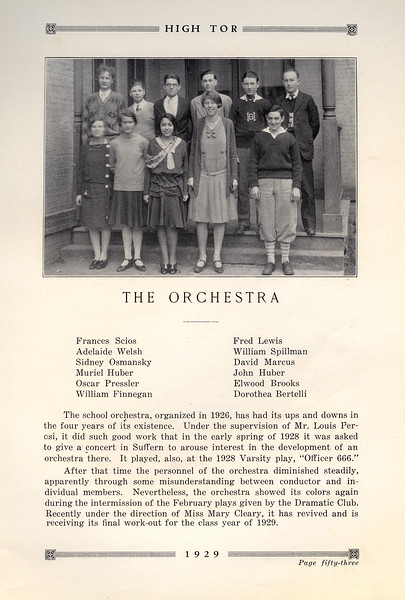 Haverstraw 1929 Orchestra with John Jr. & Muriel