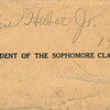 Signed envelope referencing John Jr. as President of his sophomore class - 1930