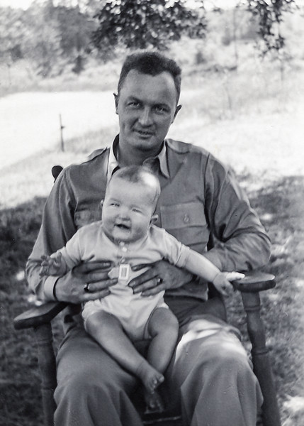Dad with Robert at 6 months old - 1944