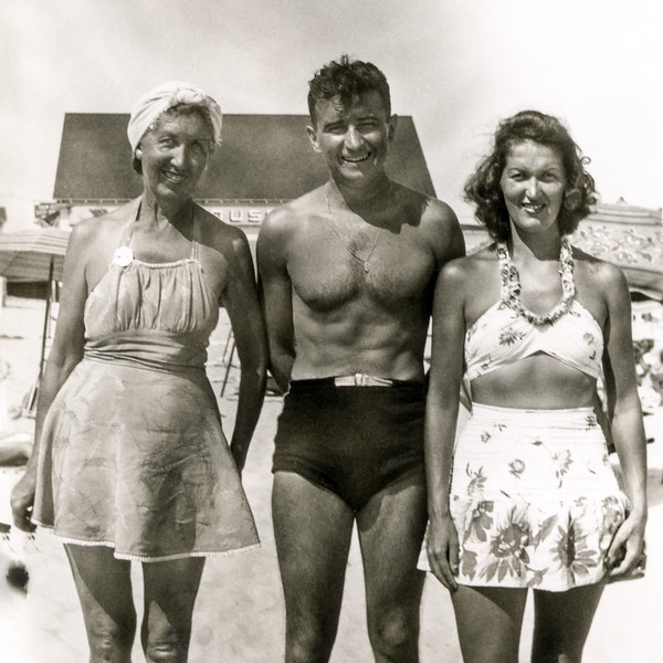 Nana, Uncle Will & Mom - August 19, 1945