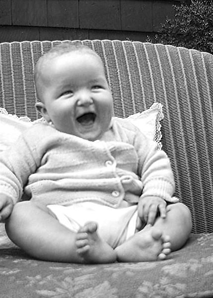 Robert at 6 months old - Summer 1944