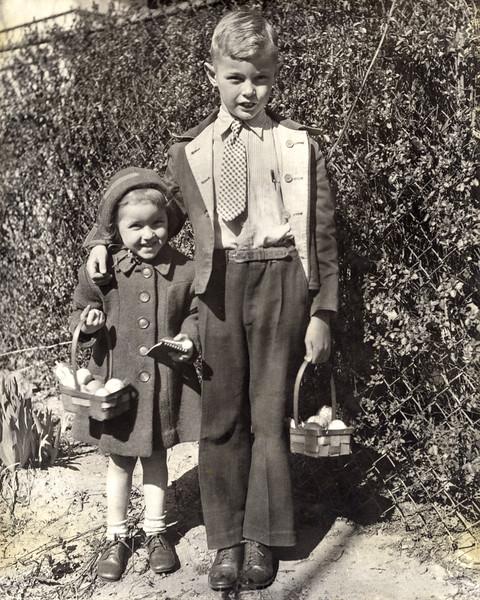 Nancy & Roger - Easter 1945