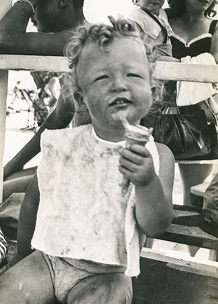 Robert with ice cream cone - July 1945