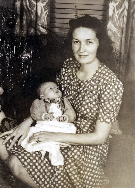 Robert at 4 weeks old with Mom - January 2, 1944