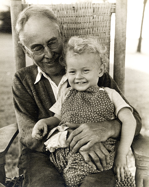 Grandfather Huber & Roger in West Nyack - 1943