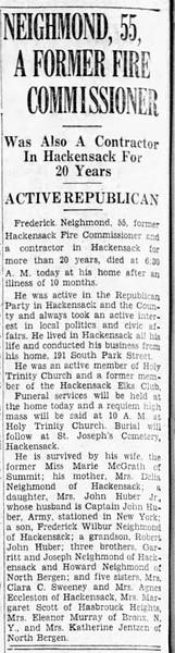 Fredrick Neighmond's obituary