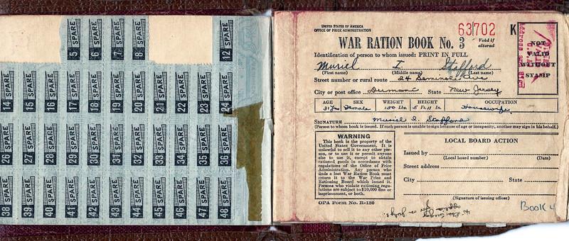 Muriel's World War II Ration Book