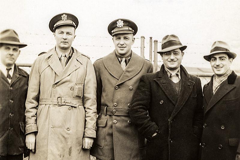 Dad & Edward Bender (Barry's godfather - center) - Chemical Warfare - 1943