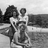 Mom, Dad & Aunt Muriel at Lake Wallkill, NJ - 1940