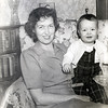 Greg at 11 months with Mom - February 1949