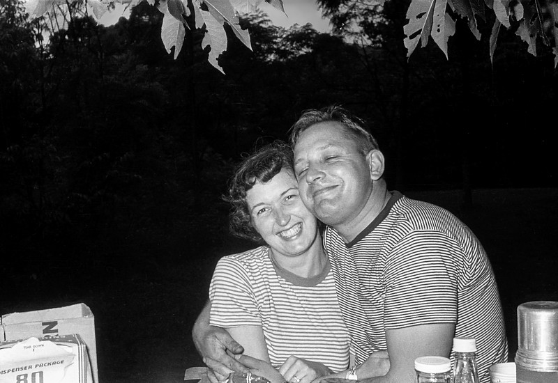 Mom with Edward in Ringwood Manor - 1949