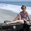 Nana on the beach at Mrs. Henry's - 1949
