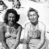 Mom with with Nana on Jersey Shore - 1949