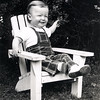 Greg at 14 months in Adirondack chair - June 1949
