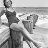 Maureen on the beach - 1949