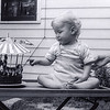 Barry's 1st Birthday with carousel cake  - Sept. 6, 1952