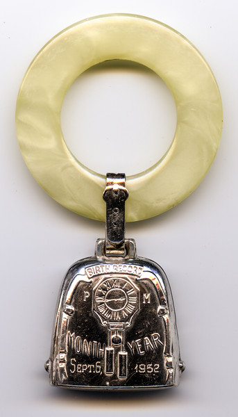 Barry's Silver Birth Record Teething Ring