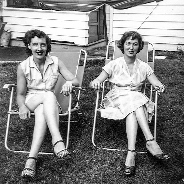 Mom with Maureen - July 4, 1953