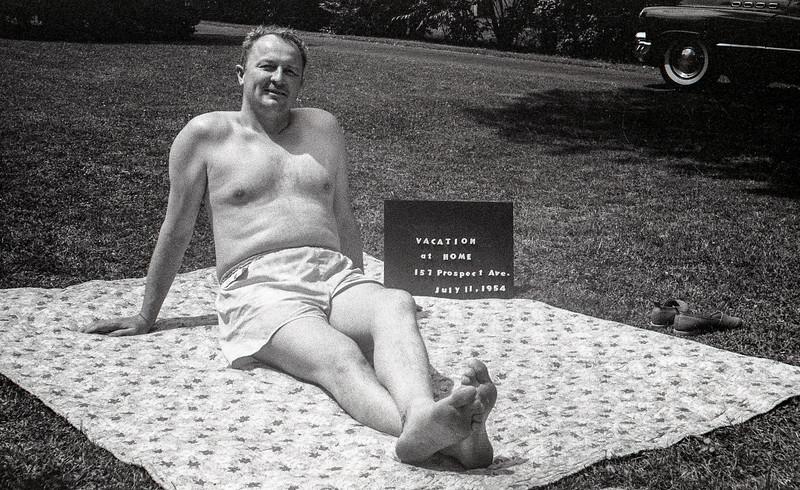 Dad - Vacation at Home - July 11, 1954