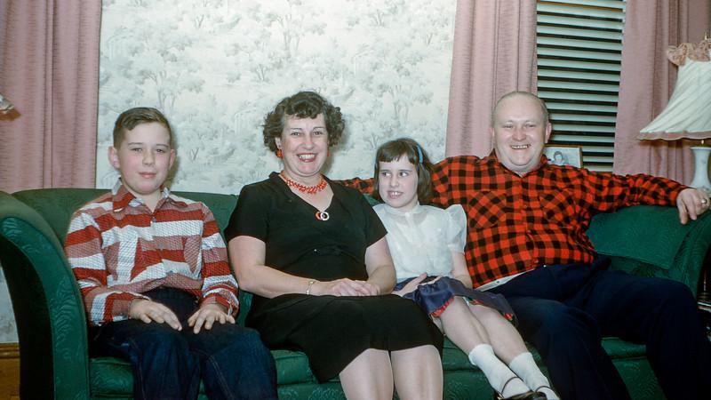 The Morans - Tommy, Mary, Patty & Joe - Christmas 1954