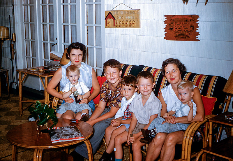 Hubers & Hoovers at Pines Lake - July 1954
