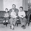 Greg, Dad, Barry with Susie, & Robert - 1954