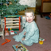 Barry playing with his new toys - Christmas 1954