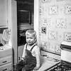 Barry in Hackensack kitchen - 1954