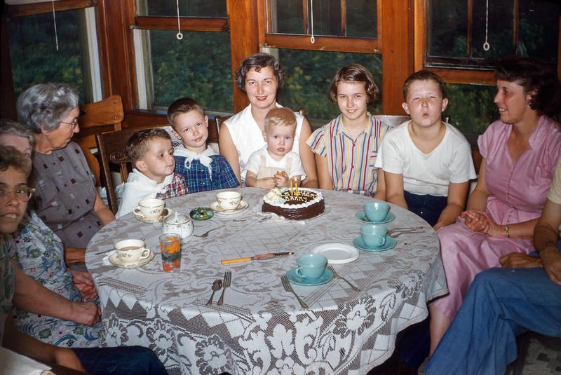 Mom & Dad 13th anniversary & Barry's 2nd birthday - 1954