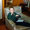 Greg playing flute - Christmas 1954
