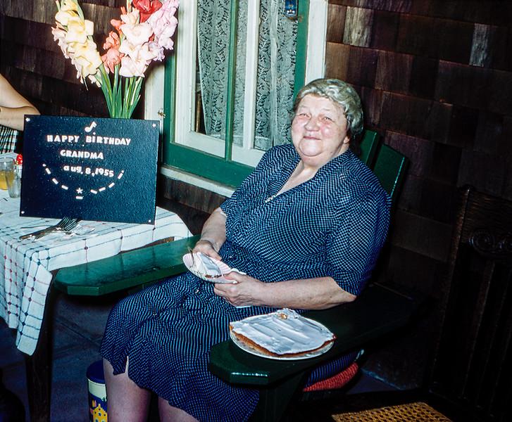 Grandma on her 79th birthday - August 1955