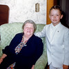 Greg with Grandma - April 1955