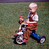 Barry & Major No-No on his tricycle