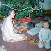 Mom & Barry - Christmas 1955