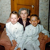 Greg & Sonny with Nana - April 1955
