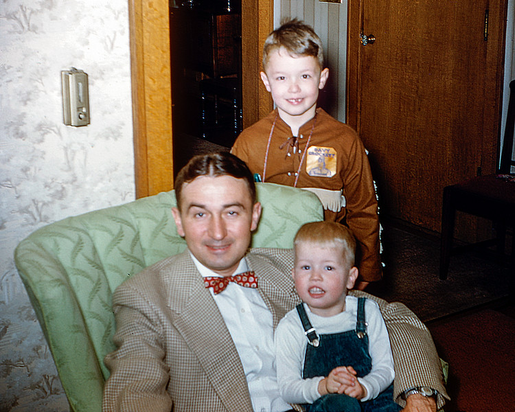 Uncle Will with Greg & Barry - 1955