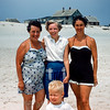 Mary, Dorthy Kirby, Mom & Barry - Lavallette 1955