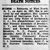 Edmunde Huber deah notice  - The Journal News - April 25, 1957