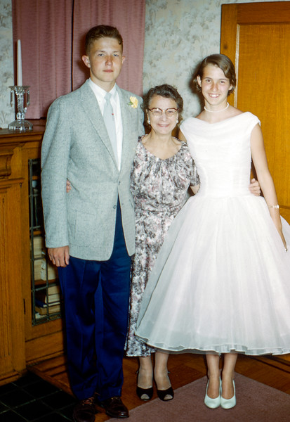 Robert with Aunt Florence & Nancy - 1957
